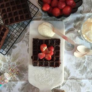 One-Bowl Brownie Waffles