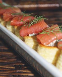 Smoked Salmon Canapes