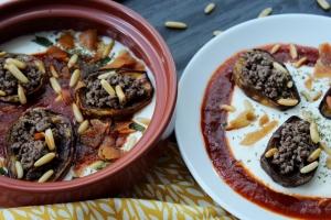 Fattet El Batenjan - Roasted Eggplant in Yogurt Sauce